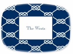Nautical Knot Navy Melamine Platter