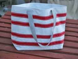 Nautical Stripe Sailcloth Tote Large