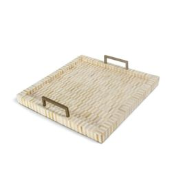 Nevis Multi-Tone Bone & Brass Tray *Backorder