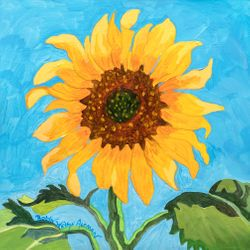New Day Sunflower Beach Print *NEW