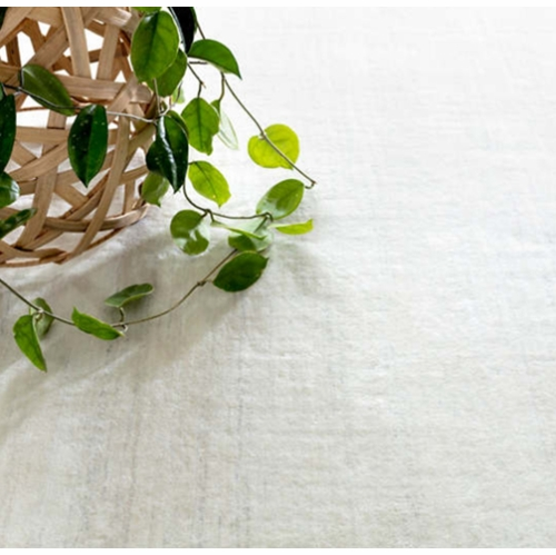 Nordic White Loom Knotted Rug