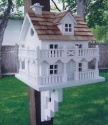 The Novelty Cottage Bird Feeder