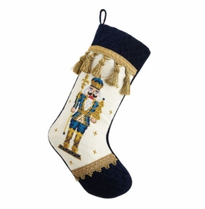 Nutcracker Velvet Cuff Toe Christmas Stocking<font color =a8bb35> Sold out</font>