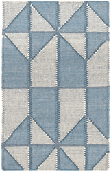 Ojai Blue Loom Knotted Cotton Rug