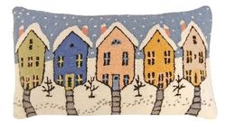 Old Town Christmas Pillow <font color=a8bb35> NEW</font>