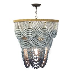 Ombre Wood Bead Chandelier <font color=a8bb35>NEW</font>