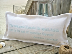 Once Its Spell Is Cast Coastal Phrase Pillow