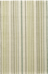 Oslo Stripe Green Woven Cotton Rug *NEW