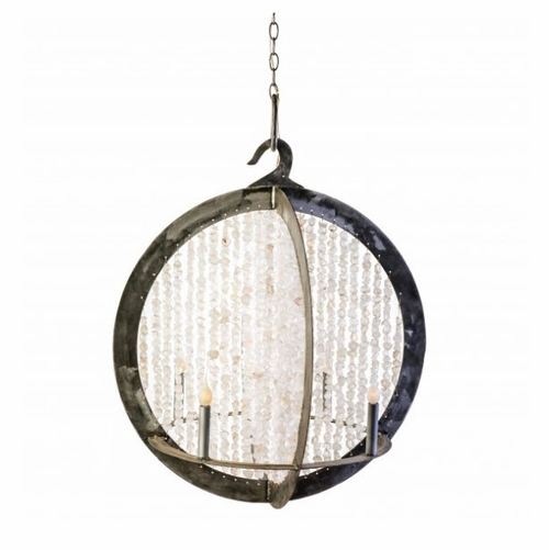 Ossabaw Shelled Double Ring Chandelier in Two Options