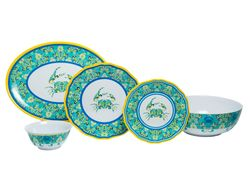 Paisley Crab Melamine Dinner Set with Platter