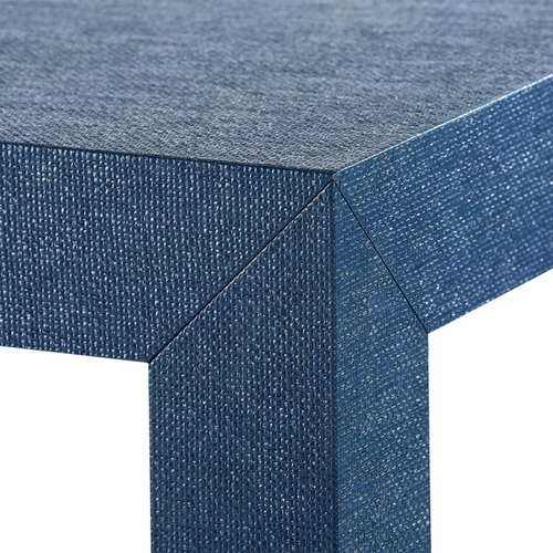 Parsons Grasscloth Coffee Table in Blue *Backorder
