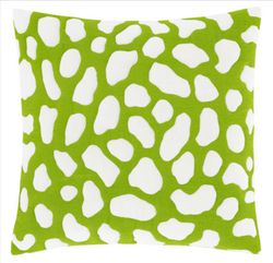 Pebbles Quilted Green Decorative Pillow