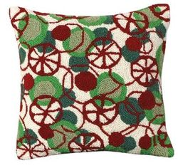 Peppermint Disco Christmas Pillow <font color=a8bb35> NEW</font>