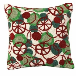 Peppermint Disco Christmas Pillow