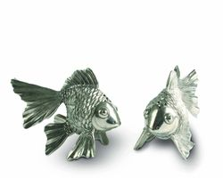 Pewter Goldfish Salt & Pepper Set *NEW*
