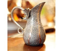 Pewter Gourd Table Pitcher <font color=a8bb35> NEW</font>