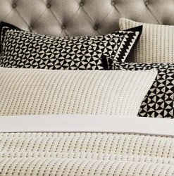 Pick Stitch Natural Matelasse Sham