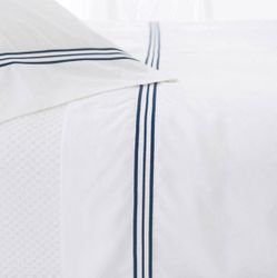 Trio Indigo Flat Sheet