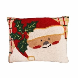 Plaid Santa Christmas Pillow