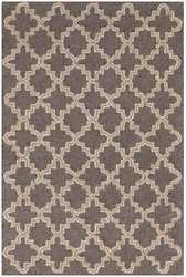 Plain Tin Charcoal Wool Mirco Hooked Rug