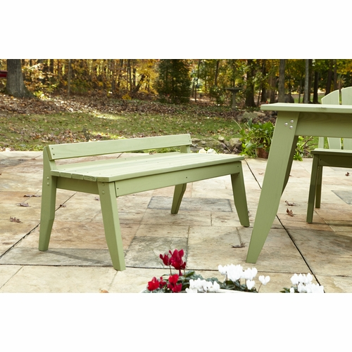 Plaza Outdoor Two-Seat Bench without Back
