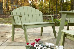 Plaza Two-Seat Outdoor Bench with Back