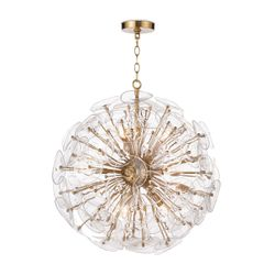 Poppy Glass Chandelier in Two Sizes <font color=a8bb35>NEW</font>