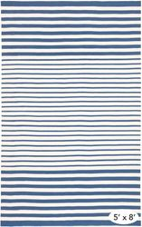 Port Stripe Denim Indoor/Outdoor Rug