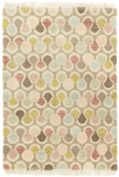 Porter Pastel Hand Knotted Wool Rug  <font color=a8bb35>NEW</font>