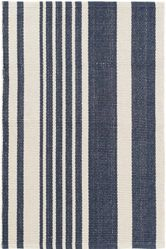 Portland Stripe Woven Cotton Rug<font color=a8bb35> NEW</font>