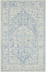 Prana Blue Hand Tufted Rug <font color=a8bb35> NEW</font>