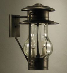 Railroad 2-Light Wall Mount Lantern with Optic Glass <font color=a8bb25> Sold Out</font>