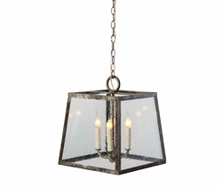 Steel Box Pendant Light in Two Sizes