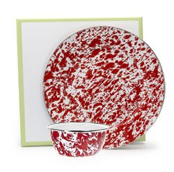 Red Swirl Dip Set
