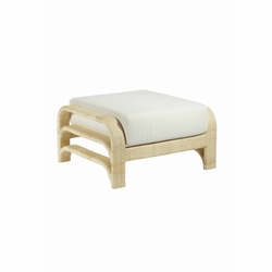 Reo Rattan Ottoman in Natural