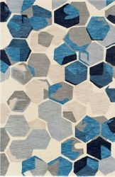 Rivera Ink Hand Tufted Rug <font color=a8bb35> NEW</font>