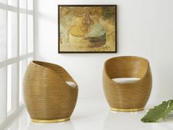 Riviera Swivel Tub Chair <font color=a8bb35> NEW</font>