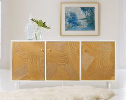 Riviera Three Door Credenza <font color=a8bb35> NEW</font>