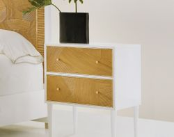 Riviera Two Drawer Nightstand <font color=a8bb35> NEW</font>