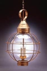 "18"" Round Hanging Onion Lantern <font color=a8bb25> Sold Out</font>"