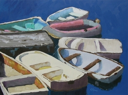 Row of Skiffs Giclee