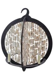 Rustic Shell Double Ring Chandelier