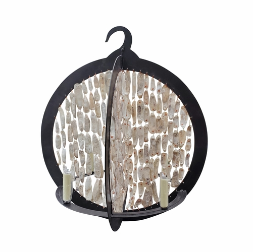 Rustic Shell Double Ring Chandelier *Sold