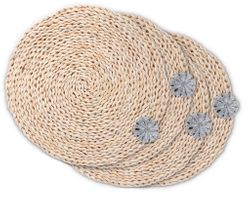 Sand Dollar Twisted Seagrass Placemats - Set of 4