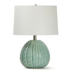 Sanibel Ceramic Sea Foam Table Lamp<font color=a8bb35> NEW</font>