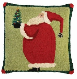 Santa Giving Christmas Pillow