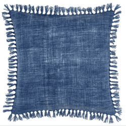 Santa Monica Indigo Decorative Pillow <font color=a8bb35> NEW</font>