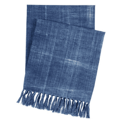 Santa Monica Indigo Throw <font color=a8bb35> NEW</font>