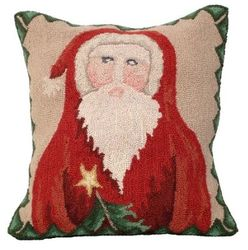 Santa Star Tree Christmas Pillow