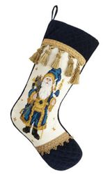 Santa Velvet Cuff Toe Christmas Stocking<font color =a8bb35> Sold out</font>
